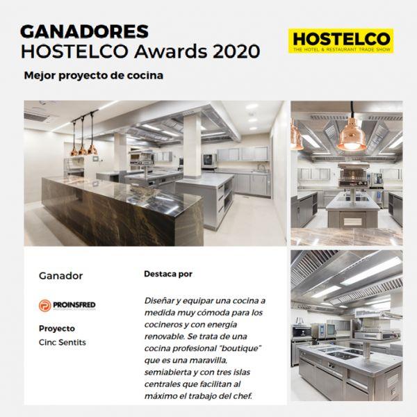 """Proinsfred gana los Hostelco Awards 2020 en la categoría """"Mejor proyecto de cocina"""""""